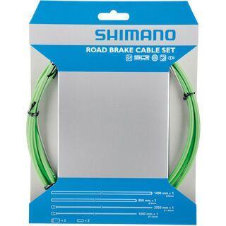 Shimano Bremszug-Set Road Sil-Tec beschichtet, grün