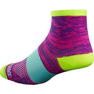 Specialized Women's SL Mid Sock, purple/yellow - Radsocken