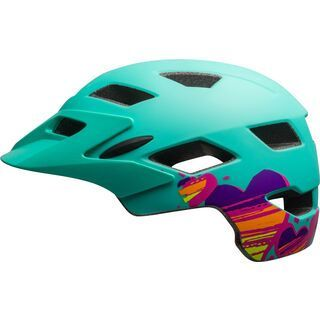 Bell Sidetrack Youth MIPS, mint/tang hearts - Fahrradhelm