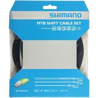 Shimano Schaltzug-Set MTB Edelstahl, Optislick beschichtet - 2x 2.100 mm schwarz