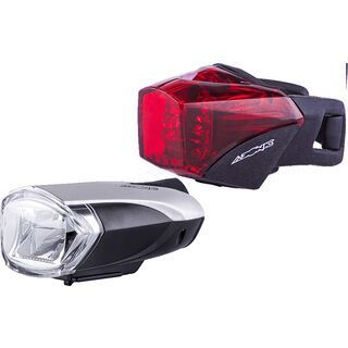 Azonic Bongo LED Frontlicht + Banjo LED Rücklicht - StVZO, black - Beleuchtung