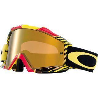 Oakley Proven MX, biohazard red/yellow/Lens: fire iridium - MX Brille