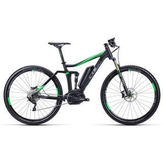 Cube Stereo Hybrid 120 HPA Race 29 2015, black/grey/neongreen - E-Bike