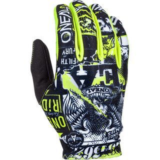 ONeal Matrix Youth Glove Attack, black/hi-viz - Fahrradhandschuhe