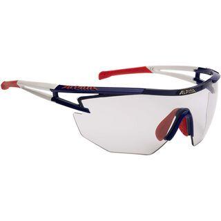 Alpina Alpina Eye-5 Shield VL+, blue-white-red/Varioflex black - Sportbrille