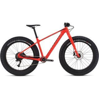 Specialized Fatboy Comp Carbon 2017, red/black/grey - Mountainbike