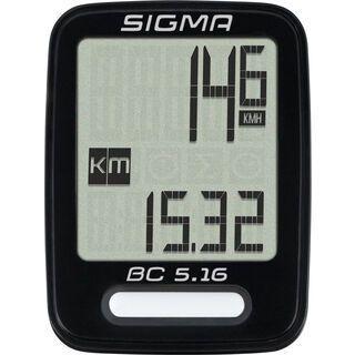 Sigma BC 5.16, schwarz - Fahrradcomputer