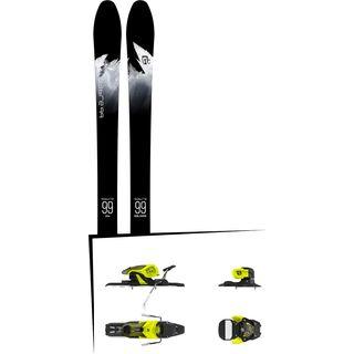Set: Icelantic Sabre 99 2018 + Salomon Warden 11 yellow/black