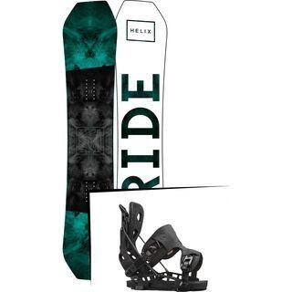 Set: Ride Helix 2017 + Flow NX2 2016, black - Snowboardset