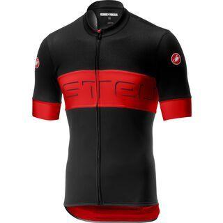 Castelli Prologo VI Jersey, black/red/black - Radtrikot