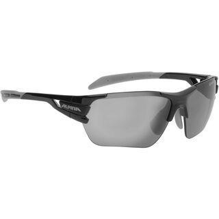 Alpina Tri-Scray S inkl. Wechselscheibe, black grey/Lens: black mirror - Sportbrille