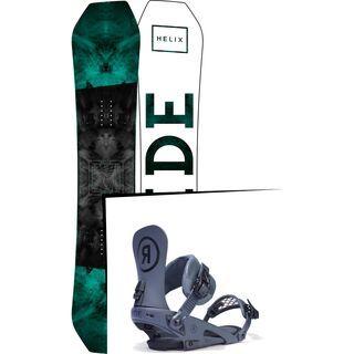 Set: Ride Helix 2017 + Ride Rodeo 2017, grey - Snowboardset