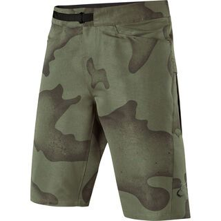 Fox Ranger Cargo Camo Short with Liner, green camo - Radhose