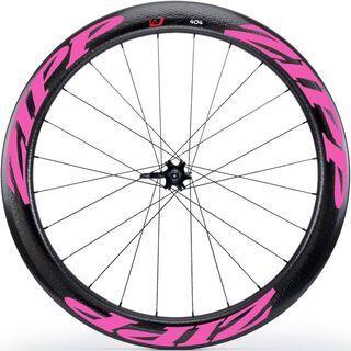 Zipp 404 Firecrest Carbon Clincher Disc-brake, schwarz/pink - Hinterrad
