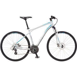 GT Transeo 4.0 2016, silver/cyan - Fitnessbike