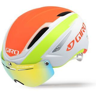 Giro Air Attack Shield, white lime flame - Fahrradhelm