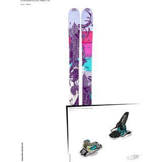 K2 SKI Set: Missdirected 2013 + Marker Jester 16