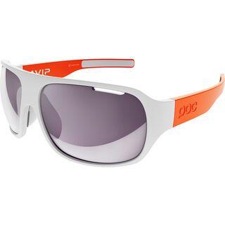 POC DO Flow AVIP, hydrogen white/zink orange/Lens: violet/light silver - Sportbrille