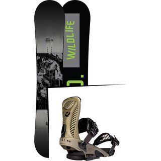Set: Ride Wild Life Wide 2017 + Ride Capo 2016, gold - Snowboardset