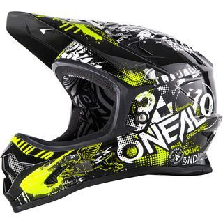 ONeal Backflip RL2 Youth Evo Helmet Attack, black/hi-viz - Fahrradhelm