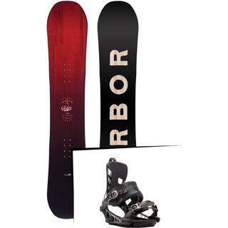 Set: Arbor Foundation 2017 + K2 Cinch CTS 2017, black - Snowboardset