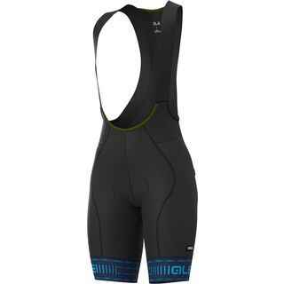 Ale Green Road Lady Bibshorts, blue-light blue - Radhose