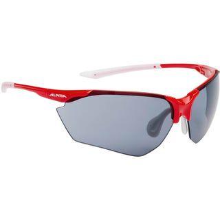 Alpina Splinter HR C+, red-white/Lens: ceramic+ black - Sportbrille