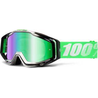 100% Racecraft inkl. Wechselscheibe, organic/Lens: mirror green - MX Brille