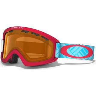 Oakley O2 XS, Braided Blue Red/Persimmon - Skibrille