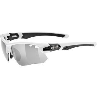 uvex Sportstyle 109 inkl. Wechselgläser, white black/Lens: litemirror silver - Sportbrille