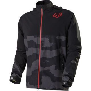 Fox Downpour Jacket, black camo - Radjacke