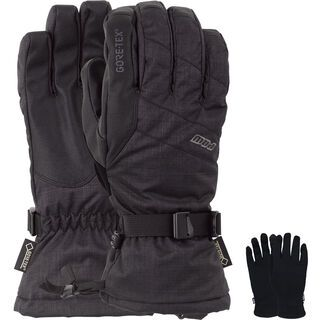 POW Gloves Warner Gore-Tex Long Glove + Merino Liner, black - Snowboardhandschuhe
