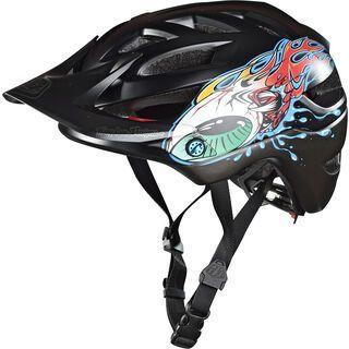 TroyLee Designs A1 Eyeball Youth Helmet MIPS, black/silver - Fahrradhelm
