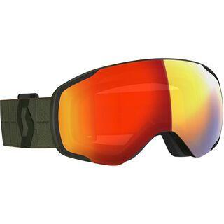 Scott Vapor, kaki green/Lens: enhancer red chrome - Skibrille