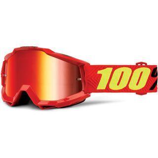 100% Accuri inkl. WS, saarinen/Lens: mirror red - MX Brille