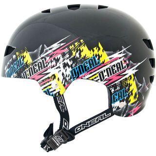 ONeal Dirt Lid Fidlock ProFit Helmet DISTORTION, Schwarz/Neon - Fahrradhelm
