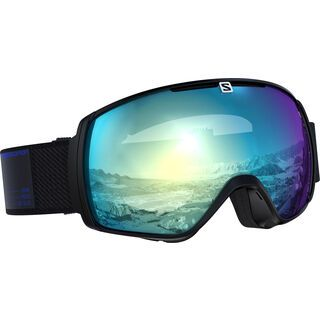Salomon XT One Sigma Photo, black/Lens: ml sky blue - Skibrille