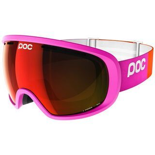 POC Fovea inkl. Wechselscheibe, fluo pink/Lens: persimmon red mirror - Skibrille