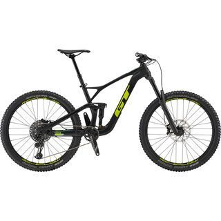 GT Force Carbon Expert 2019, raw w/ chartreuse & mint - Mountainbike