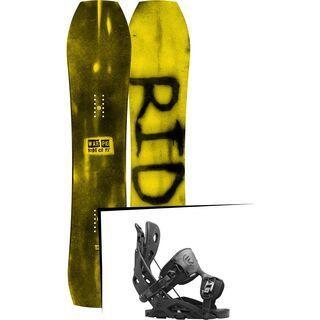 Set: Ride Warpig Small 2017 + Flow Fuse 2016, black - Snowboardset