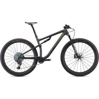 Specialized S-Works Epic satin/gloss carbon/color run silver - green chameleon 2021