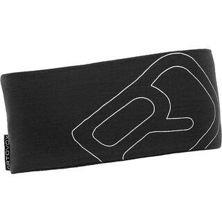 Ortovox Merino Cool Logo Headband, black steel - Stirnband