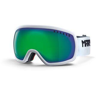 Marker 16:9, white/Lens: green plasma mirror - Skibrille