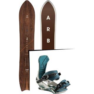 Set: Arbor Clovis 2017 + Nitro Team 2017, wolfpack white - Snowboardset