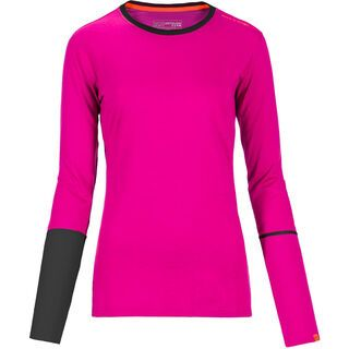 Ortovox Rock 'n' Wool Long Sleeve Women, very berry - Funktionsshirt