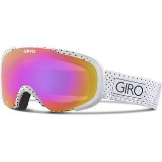 Giro Field, white mini dots/amber pink - Skibrille