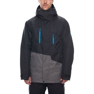686 Men's Geo Insulated Jacket, black colorblock - Snowboardjacke