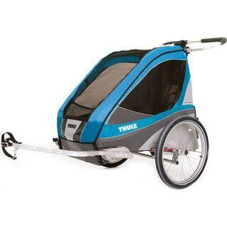 Thule Chariot Corsaire 2 inkl. Fahrrad-Set, blue - Fahrradanhänger