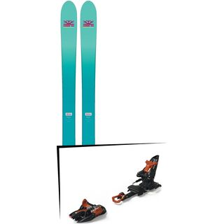 Set: DPS Skis Nina F99 Foundation 2018 + Marker Kingpin 10 black/copper