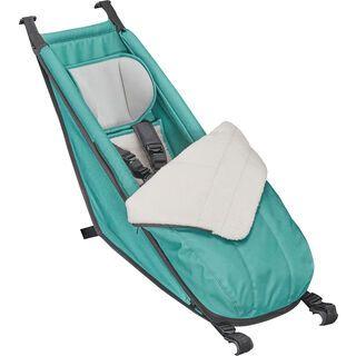 Croozer Babysitz inkl. Winter-Set für Kid Plus / Kid, artic green - Zubehör